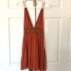 Orange Goddess Style Dress